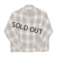 """60's """"PENNEYS"""" ALL RAYON HOMBRE CHECK PATTERN LONG SLEEVE SHIRTS"""
