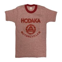 "60's DEAD STOCK ""HODAKA MOTORCYCLES"" PRINTED RINGER Tee SHIRTS"