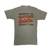 "70s' ""CHAMPION""  ""MLB""  ""BALTIMORE ORIOLES"" PRINTED Tee SHIRTS"