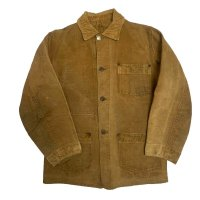 "~30's ""ACE HIGH"" WESTERN CHORE JACKET WITH REMOVED BUTTON"