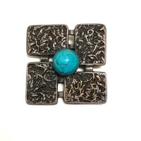 NAVAJO 卍 SILVER × TURQUOISE PINS