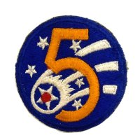 WWII US shoulder sleeve insignia of the 5th Air Force PATCH