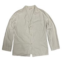 40's COTTON CANVAS WHITE COVERALL JACKET