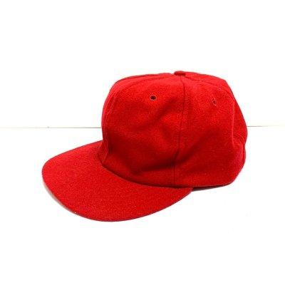 画像1: 50's〜 DEAD STOCK BASEBALL CAP (RED)