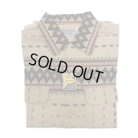 50's 1WASH DIA PATTERN PRINTED FRANNEL SHIRTS