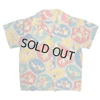 """50's KID'S """"Kaynee"""" COWBOW PATCH WORK PATTERN COTTON PRINTED SHORT SLEEVE SHIRTS"""