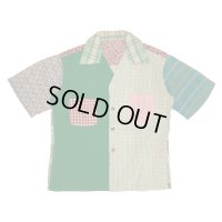 50's CRAZY PATTERN COTTON SHORT SLEEVE OPEN COLLOR SHIRTS