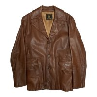 60's GOLDEN BEAR LEATHER JACKET BROWN