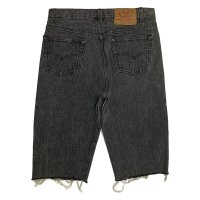 80's Levi's 501 BROKEN DENIM CUT OFF PANTS BLACK