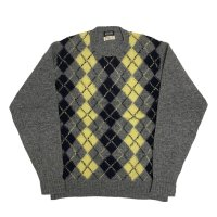 around 70's DEAD STOCK BROOKS BROTHERS ARGYLE PATTERN WOOL KNIT (1)