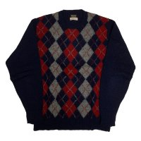 around 70's DEAD STOCK BROOKS BROTHERS ARGYLE PATTERN WOOL KNIT (2)