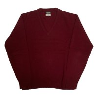 around 70's DEAD STOCK BROOKS BROTHERS LAMBSWOOL KNIT BURGUNDY