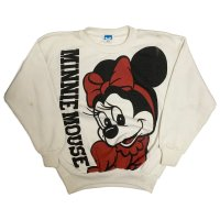 80's MINNIE MOUSE 両面PRINTED SWEAT SHIRTS