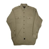 90's RRL COTTON TWILL MILITARY SHIRTS WITH CHIN STRAP