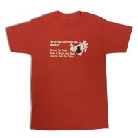 80's BOWLING MESSAGE TEE SHIRTS RED