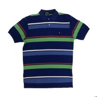90's RALPH BOREDR PATTERN POLO SHIRS (8)