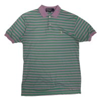 90's RALPH BOREDR PATTERN POLO SHIRS (1)