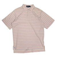 90's RALPH BIG POLO BORDER PATTERN POLO SHIRTS