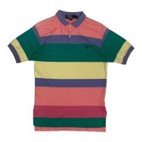 90's RALPH BORDER PATTERN POLO SHIRTS (6)