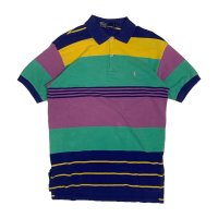 90's RALPH BORDER PATTERN POLO SHIRTS (7)