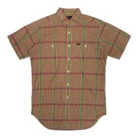 OLD RALPH SHORT SLEEVE BUTTON DOWN CHECK SHIRTS