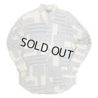 RALPH PATCH WORK LONG SLEEVE SHIRTS