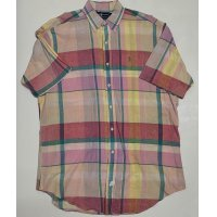 RALPH LAUREN MADRAS CHECH SHORT SLEEVE SHIRTS (PINK)